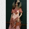 HAMUPIPŐKE - art to wear korzet-ruha, Ruha, divat, cipő, Női ruha, Ruha, A bohém ruhák kedvelőinek:  Rozsdás árnyalatokkal kézzel festett, oldalt-zipes korzet-szerű derékrés..., Meska