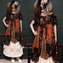 ELIZA - patchwork design-ruha , Ruha, divat, cipő, Női ruha, Ruha, A művészi vintage stílus szerelmeseinek ajánlom e kollekcióm aprólékos munkával és sok-sok szeretett..., Meska