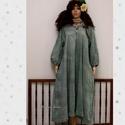 ERIN - kézműves lagenlook ingruha , Ruha, divat, cipő, Női ruha, Ruha, A hűvösebb napokra sűrű szövésű, nyers kékfestő-vászonból készítettem ezt a laza-szabású, túl-mérete..., Meska