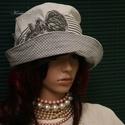 RÓZA - nyári design-kalap, Ruha, divat, cipő, Női ruha, Kendő, sál, sapka, kesztyű, Sapka, Vízparti nyaraláshoz, városi sétákhoz:  Selymes felületű, könnyű ripszvászonból terveztem ezt az öbl..., Meska