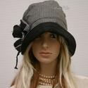 """MALINKA - lenszövet flapper kalap, Ruha, divat, cipő, Női ruha, Kendő, sál, sapka, kesztyű, Sapka, Az 1920-as évek divatja köszön vissza """"Malinka"""" fantázianevű romantikus design-kalapjaimon.  Ez a jó..., Meska"""