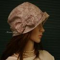 """MARIE cloche - lenvászon flapper kalap, Ruha, divat, cipő, Női ruha, Kendő, sál, sapka, kesztyű, Sapka, Az 1920-as évek divatja köszön vissza """"Marie"""" fantázianevű, kis-karimájú, fejhez simuló design-kalap..., Meska"""
