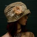 """MARIE cloche - lenszövet flapper kalap, Ruha, divat, cipő, Női ruha, Kendő, sál, sapka, kesztyű, Sapka, Az 1920-as évek divatja köszön vissza """"Marie"""" fantázianevű, kis-karimájú, fejhez simuló design-kalap..., Meska"""