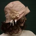 """MARA cloche -  púderszín flapper kalap, Az 1920-as évek flapper divatja köszön vissza """"..."""