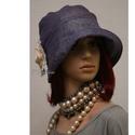 """MALINKA cloche  -  flapper kalap, Ruha, divat, cipő, Női ruha, Kendő, sál, sapka, kesztyű, Sapka, Az 1920-as évek divatja köszön vissza """"Malinka"""" fantázianevű romantikus design-kalapjaimon.  Ez a mu..., Meska"""