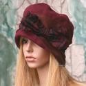 BERTA - kézműves kalap L-XL, Finom gyapjúszövetből készült öblös, stílu...