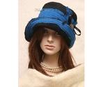 FANNI cloche - patchwork design kalap, Ruha, divat, cipő, Kendő, sál, sapka, kesztyű, Sapka, Női ruha, Különleges kalapom harang-szabása az 1920-as évek flapper divatját idézi. Ez a forma szinte minden N..., Meska