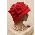 """ERNA cloche - polár flapper kalap L, Ruha, divat, cipő, Női ruha, Kendő, sál, sapka, kesztyű, Sapka, Az 1920-as évek flapper divatja köszön vissza """"ERNA"""" fantázianevű, rakott-tetejű, harang-szabású, mé..., Meska"""
