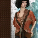 ROZSDÁS - csipkekabátka - art to wear LEFOGLALVA!, Antik klöpli-csipkéből terveztem és kézzel fe...