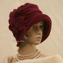 """ERNA cloche - polár flapper kalap, Az 1920-as évek flapper divatja köszön vissza """"..."""