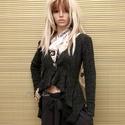 CSILLÁMOS BUKLÉ - design-kabátka, Ruha, divat, cipő, Női ruha, Kabát, Különleges, rövid-fazonnal,  enyhén csillogó gépi-kötött olasz kötött kelméből készült ez a modellem..., Meska