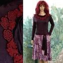 ANDREA - jerseyruha, Ruha, divat, cipő, Női ruha, Ruha, Ezt a modellem kétféle jersey kombinációjából állítottam össze. A hosszú-ujjú top különleges, hűvös,..., Meska