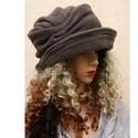 ERNA cloche -szürke polár flapper kalap XL 804d234918
