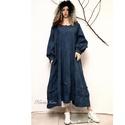 ELMA - kézműves  ingruha  SZÍNEKBEN!, Ruha, divat, cipő, Női ruha, Ruha, Varázslatos kollekciómat a lagenlook stílus szerelmeseinek terveztem!  Sűrű szövésű, nyers kékfestő-..., Meska