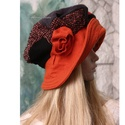 SZABRINA - patchwork barett-kalap, Ruha, divat, cipő, Kendő, sál, sapka, kesztyű, Sapka, Női ruha, Terjedelmes, romantikus patchwork kalap gyapjúszövetekből, filcből, selyemmel bélelve.  A különleges..., Meska