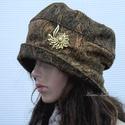BERTA / aranyos - kézműves kalap , Ruha, divat, cipő, Kendő, sál, sapka, kesztyű, Sapka, Női ruha, Metál-szálas ( barnás-zöldes-rezes) jacquard-szövet színe-visszájából készült  öblös, stílusos kalap..., Meska