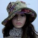 ANTIK-BROKÁT- vintage style design-kalap, Ruha, divat, cipő, Kendő, sál, sapka, kesztyű, Sapka, Női ruha, Igazi kalap-különlegesség!  Egy antik terítőből terveztem. Stílszerűen óarany szegővel és saját anya..., Meska