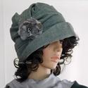 """ERNA cloche - gyapjúszövet flapper kalap, Ruha, divat, cipő, Női ruha, Kendő, sál, sapka, kesztyű, Sapka, Az 1920-as évek flapper divatja köszön vissza """"ERNA"""" fantázianevű, rakott-tetejű, harang-szabású, mé..., Meska"""