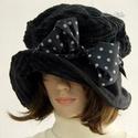 """ANDERSEN - romantikus kord kalap, Ruha, divat, cipő, Kendő, sál, sapka, kesztyű, Sapka, Női ruha, Fekete elefánt - és mikro-kordból terveztem ezt a romantikus """"mesebeli"""" kalapom.  Ernyős nagy karimá..., Meska"""