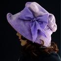"""ANDERSEN - romantikus kalap, Ruha, divat, cipő, Kendő, sál, sapka, kesztyű, Sapka, Női ruha, Kézzel festett elefántkordból készítettem ezt a romantikus """"mesebeli"""" kalapom. Színe finom ibolyalil..., Meska"""