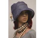 """MALINKA cloche  -  flapper kalap, Ruha, divat, cipő, Női ruha, Kendő, sál, sapka, kesztyű, Sapka, Az 1920-as évek divatja köszön vissza """"Malinka"""" fantázianevű romantikus design-kalapjaimon.  Ez..., Meska"""