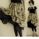 MUSZLIN-SZOKNYA - Lolita-stílusban, Ruha, divat, cipő, Női ruha, Szoknya, Kétrétegű, felcsípésekkel habosított nőies muszlinszoknya. Kényelmes gumis derekú, habkönn..., Meska