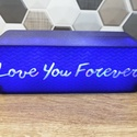 Személyre szabható egyedi 3D nyomtatott design LED lámpa éjszakai fény, Otthon & Lakás, Lámpa, Hangulatlámpa, Mindenmás, Ez egy fantasztikus egyedi ajándék a szerettednek/barátodnak/családodnak. Lehet nappal és este is h..., Meska