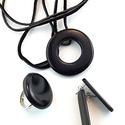 Fekete MMM kör medál pont gyűrű Fekete Calipso fülbevaló ékszerszett, Ékszer, óra, Ékszerszett, Gyűrű, Medál, Ékszerkészítés, Gyurma, A medál a következő anyagokból készült:   Fekete süthető gyurma gyöngyök Ezüst színű fém medál sz..., Meska
