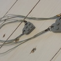 Lego szív nyaklánc karkötővel, Baba-mama-gyerek, Ruha, divat, cipő, Ékszer, Ez a szürke szett egy 19 cm-es karkötőből és egy 50 cm-es nyakláncból áll. Mindkét darabon ..., Meska