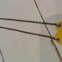 Lego szív nyaklánc, Ékszer, Játék, Nyaklánc, Készségfejlesztő játék, Sárga színű Lego elemekből készült az a szív formájú nyaklánc. Bronz színű láncra kerü..., Meska