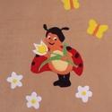 Katica a virágos mezőn - polár takaró, Baba-mama-gyerek, Gyerekszoba, Falvédő, takaró, Egyedi készítésű polár takaró gyermekeknek!  Puha, kellemes tapintású, tartja a meleget és ..., Meska