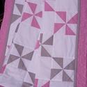 Patchwork takaró - rózsaszín-szürke