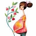 Rád várva - Print (Akvarell), Képzőművészet, Baba-mama-gyerek, Illusztráció, Gyerekszoba, Egy gyermek születése, érkezése a világon az egyik legnagyobb csoda.  Az eredeti illusztráció akvare..., Meska