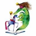 Mesélj minden nap! - Print (Akvarell), Képzőművészet, Baba-mama-gyerek, Illusztráció, Gyerekszoba, Az eredeti illusztráció akvarellel készült, a print jó minőségű, kreatív papírra van nyomtatva.  Az ..., Meska
