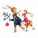 Itt a karácsony! - Print (Akvarell), Képzőművészet, Dekoráció, Kép, Ünnepi dekoráció, Karácsonyi, adventi apróságok, Az eredeti illusztráció akvarellel készült, a print A/4-es, 250 g/m2-es papírra van nyomtatva.   - M..., Meska
