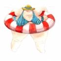 Strandon 5. - Print (Akvarell), Képzőművészet, Otthon, lakberendezés, Illusztráció, Nagyon mókás nyáron a strandokon ücsörögni és figyelni az embereket. Ezek az illusztrációk egy erdél..., Meska