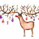 Ünnepi hangulatban - Print (Akvarell), Képzőművészet, Dekoráció, Karácsonyi, adventi apróságok, Kép, Az eredeti illusztráció akvarellel készült, a print A/4-es, 250 g/m2-es papírra van nyomtatva.   - M..., Meska