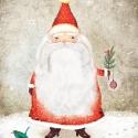 25,4 cm x 20,3 cm Mikulás - Print (Digitális), Képzőművészet, Dekoráció, Kép, Ünnepi dekoráció, Karácsonyi, adventi apróságok, Digitális illusztráció, 25,4 cm x 20,3 cm a mérete.  --------  - Mindegyik nyomatot szignózva, illet..., Meska