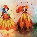 Évszakok - Print (Digitális) , Dekoráció, Képzőművészet, Kép, Illusztráció, Gróh Ilona: Sárkányparipán vágtattam c. könyvében megjelent illusztráció művészi nyomata.  Az illusz..., Meska