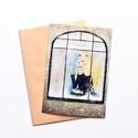 Karácsonyra várva - Képeslap borítékkal (A/6), Naptár, képeslap, album, Dekoráció, Képeslap, levélpapír, Ünnepi dekoráció, A/6-os méretű képeslap, barackszínű borítékkal.  250 grammos, szuperfényes, kiváló minőségű papírra ..., Meska
