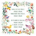 Virágom, virágom - Print, Képzőművészet, Dekoráció, Magyar motívumokkal, Illusztráció, A print A/4-es, 250 g/m2-es papírra van nyomtatva (az illusztráció mérete: 20 cm X 20 cm, vagy lehet..., Meska