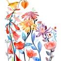 Varázslatos kert - Print (Akvarell), Képzőművészet, Baba-mama-gyerek, Illusztráció, Gyerekszoba, Az eredeti illusztráció akvarellel készült, a print jó minőségű, kreatív papírra van nyomtatva.  Az ..., Meska
