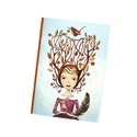 Füzet / Ősztündér, Naptár, képeslap, album, Képzőművészet, Jegyzetfüzet, napló, Illusztráció, A/5-ös méretű, egyedi illusztrációval díszített,  vonalazás nélküli füzet. 64 oldalas, ir..., Meska