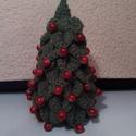 karácsonyfa, Dekoráció, Ünnepi dekoráció, 16 cm magas karácsonyfa különböző színekben és gyöngyökkel, Meska