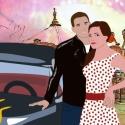 Grease Rebecca részére, 50-es évek stílusát idéző képregényes kép ...
