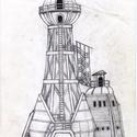 """Alcatraz_03, Férfiaknak, Képzőművészet, Steampunk ajándékok, Legénylakás, Fotó, grafika, rajz, illusztráció, 14 részből álló """"Alcatraz"""" c. kézi rajzsorozat egyik darabja. A rajzok egy számítógépes játékhoz ké..., Meska"""