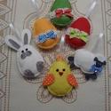 Húsvéti cukiságok - dekorációs csomag (6 db), Húsvéti díszek, Dekoráció, Baba-mama-gyerek, Ünnepi dekoráció, Ezeket az aranyos húsvéti díszeket ajánlom tojásfára, barkaágra, de dekorálhatjuk vele a gye..., Meska