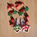 Karácsonyi dekoráció (4 db), Dekoráció, Karácsonyi, adventi apróságok, Ünnepi dekoráció, Karácsonyi dekoráció, Ünnepváró dekorációt készítettem különböző faelemek, filc, szalagok, fűszerek felhasználásával. Az a..., Meska