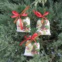 Karácsonyi illatpárna (3 db), Karácsonyi, adventi apróságok, Karácsonyi dekoráció, Ajándékkísérő, képeslap, Ajándékzsák, Karácsonyi mintás pamutvászonból varrtam a zsákocskákat, flíz tömést alkalmaztam, karácsonyi fűszera..., Meska