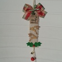 Karácsonyi csengettyű rénszarvasokkal - ajtódísz, Karácsonyi, adventi apróságok, Otthon, lakberendezés, Karácsonyi dekoráció, Ajtódísz, kopogtató, Jingle Bells, jingle bells, jingle all the way .... hangzik a jólismert karácsonyi dal. Valóban csen..., Meska